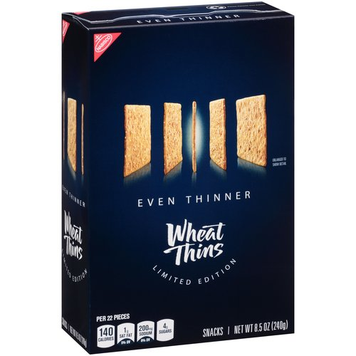 Nabisco Even Thinner Wheat Thins Snacks, 8.5 Oz.