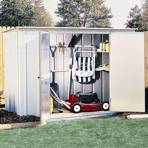 Arrow Steel Garden Shed with Accessories, 8x3