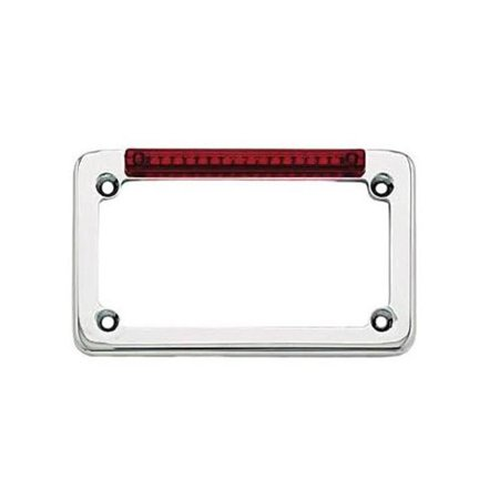 Signal Dynamics 02001 LED License Plate Frame with Turn Signals - Chrome with Red Lens