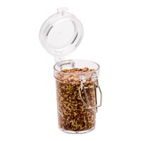 Disposable Plastic Mason Jar with Clamp Lid - 2.7oz. - 100 Count Box