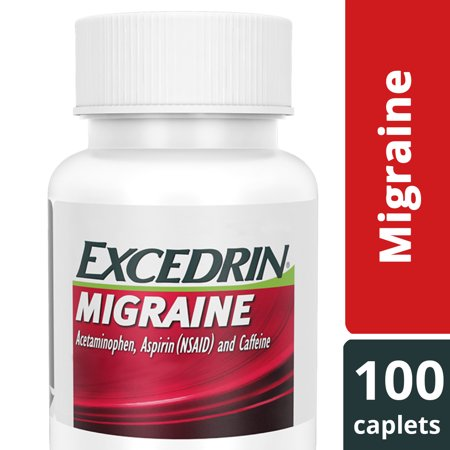 Excedrin Migraine Caplets for Migraine Headache Relief, 100 (Best Migraine Prevention Medicine)