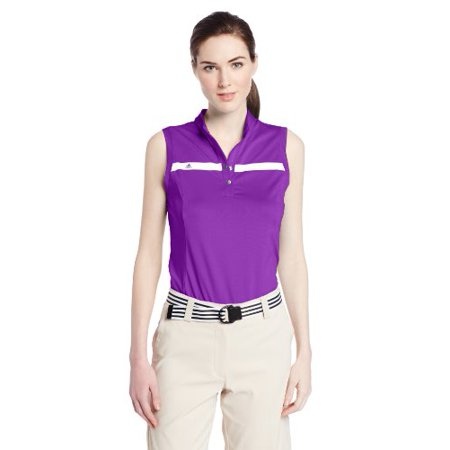 - adidas Golf Women's Puremotion Tour Climacool Sleeveless Polo, Vivid Purple/White, X-Small