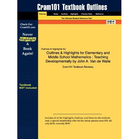 Outlines   Highlights For Elementary And Middle School Mathematics  Teaching Developmentally By John A  Van De Walle