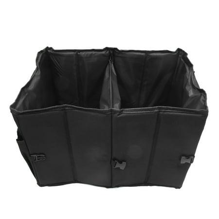 Aluminum Alloy Handle Car Trunk Organizer Collapsible Folding Storage Bag Box (Chrome Trunk Handle)