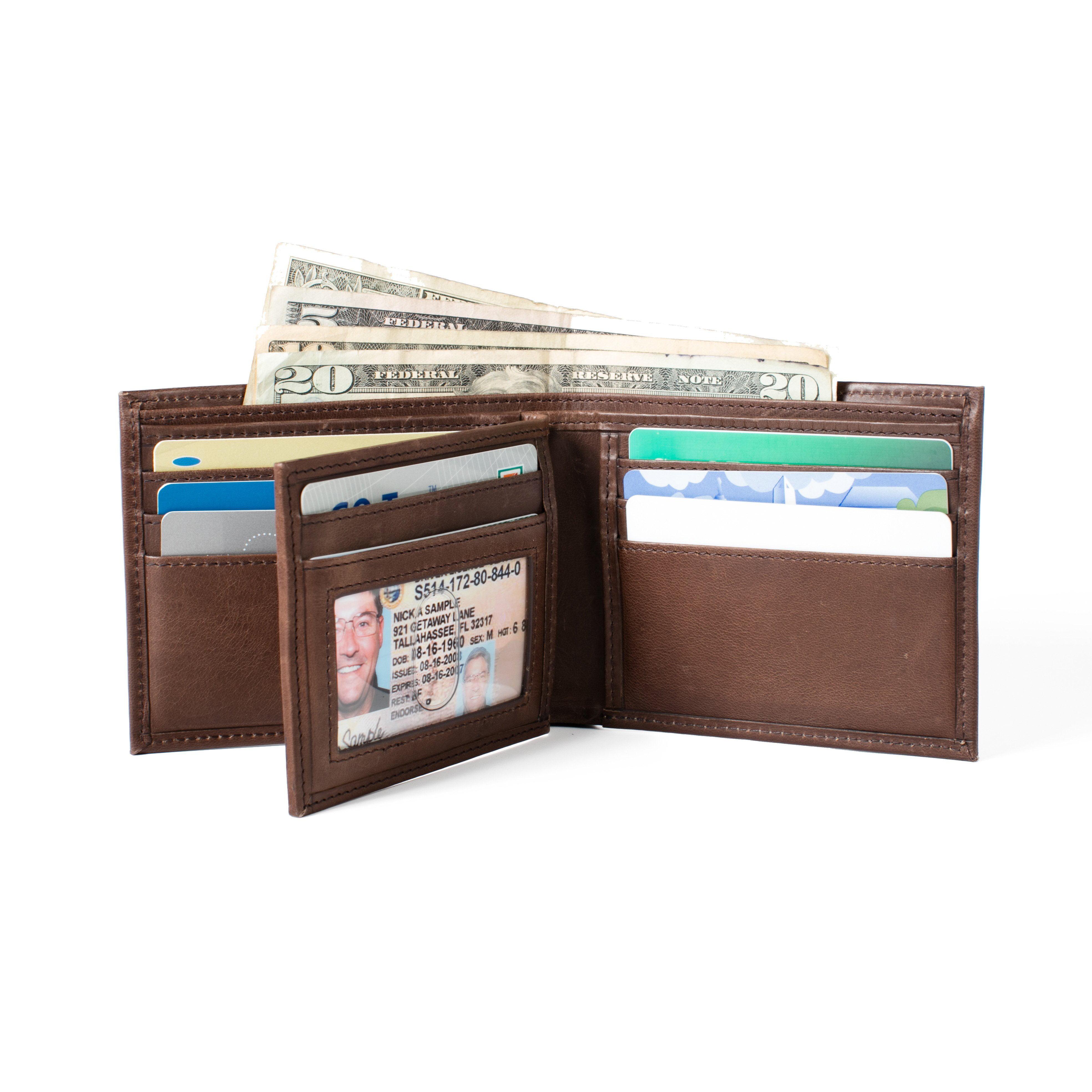 cf86da1edfab ID Stronghold - RFID Wallet in Genuine Leather Bifold 10 Slot ...