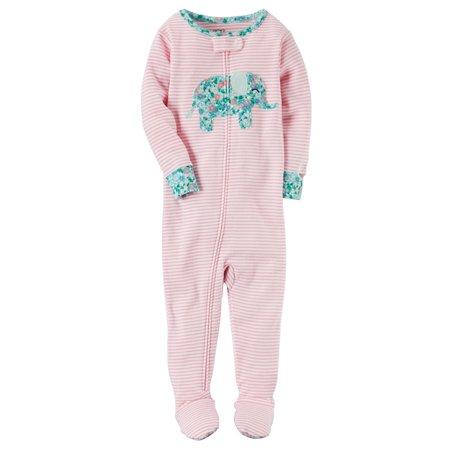 e776b0b9e Carter s - Carter s Baby Girls  1-Piece Elephant Snug Fit Cotton ...