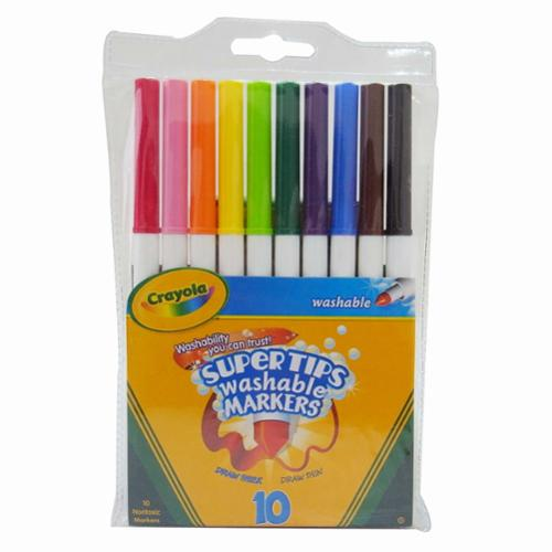 Crayola Supertips 10-color Washable Markers - Assorted Ink - 10 / Box (588610)