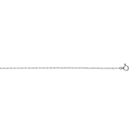 Oval Link Long Necklace - Platinum 1.4mm Oval Link Chain Necklace - 16