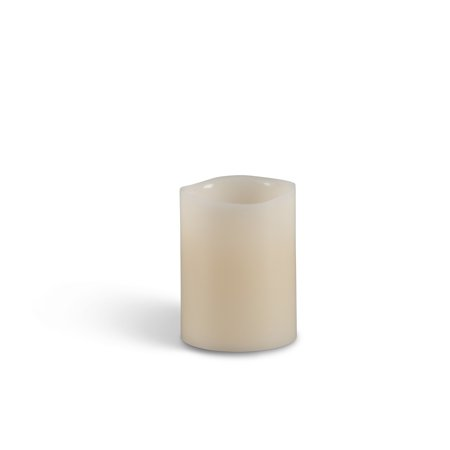 Everlasting Glow Wax Wavy Edge LED Candle with Soft Glow Flicker and Timer