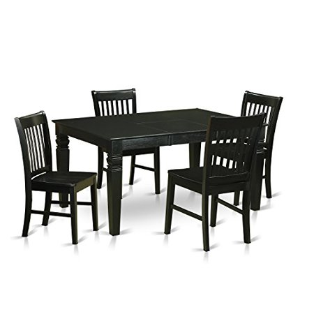 Weno5 blk w 5 piece dining table set for 4 kitchen table for 10 piece kitchen table set