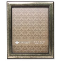 8x10 Domed Burnished Silver and Black Picture Frame