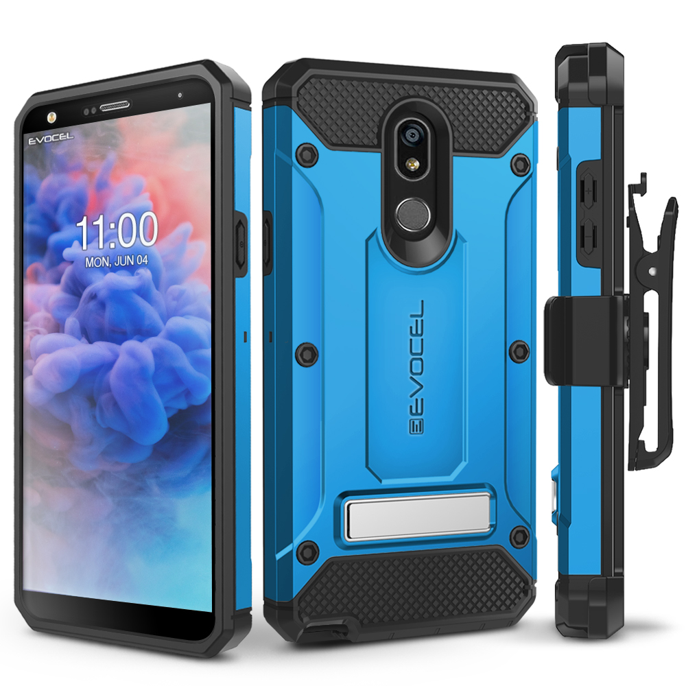 LG Stylo 5 Case, Evocel Glass Screen Protector [Belt ...