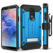 LG Stylo 5 Case, Evocel [Glass Screen Protector] [Belt Clip Holster] [Metal Kickstand] [Full Body] Explorer Series Pro Phone Case for LG Stylo 5, Blue