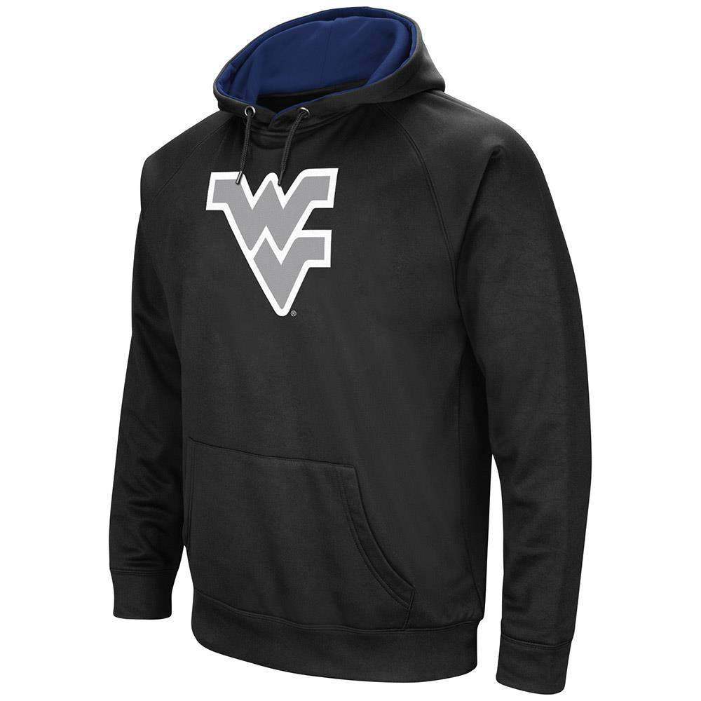 Mens West Virginia Mountaineers Black Pull-over Hoodie by Colosseum
