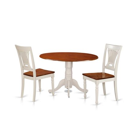 small dining set table 2 chairs buttermilk cherry 3 piece. Black Bedroom Furniture Sets. Home Design Ideas