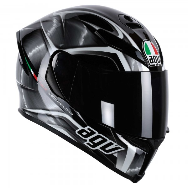 AGV K-5 Hurricane Motorcycle Street Helmet Gun Metal/Black/Gray