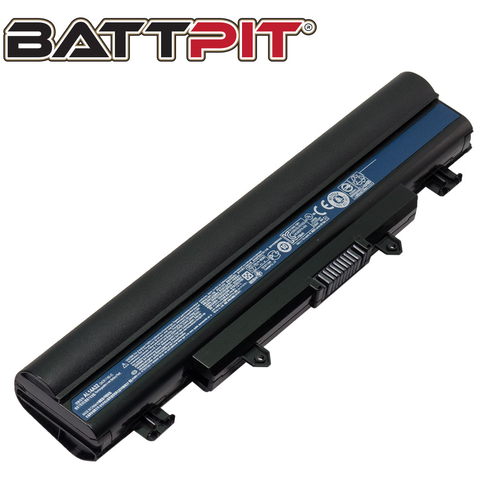 BattPit: Laptop Battery Replacement for Acer Aspire E5-471P-5456, AL14A32, KT.00603.008, Extensa 2510, TravelMate P256