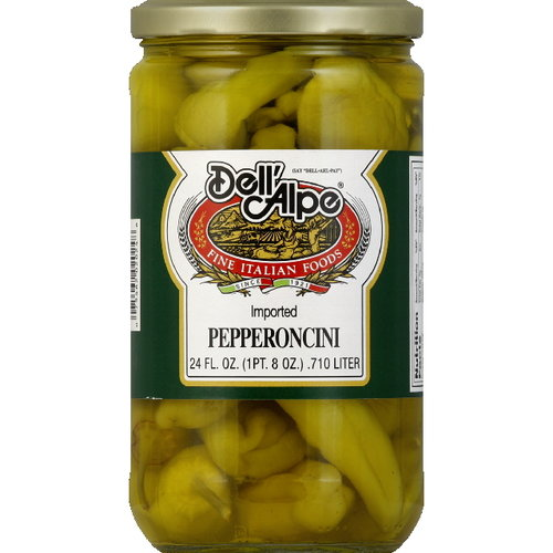 Dell'Alpe Pepperoncini, 24 oz (Pack of 12)