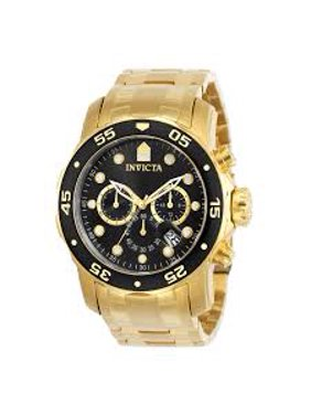 01e4587358f Product Image Men s 0072 Pro Diver Collection Chronograph 18k Gold-Plated  Watch. Invicta