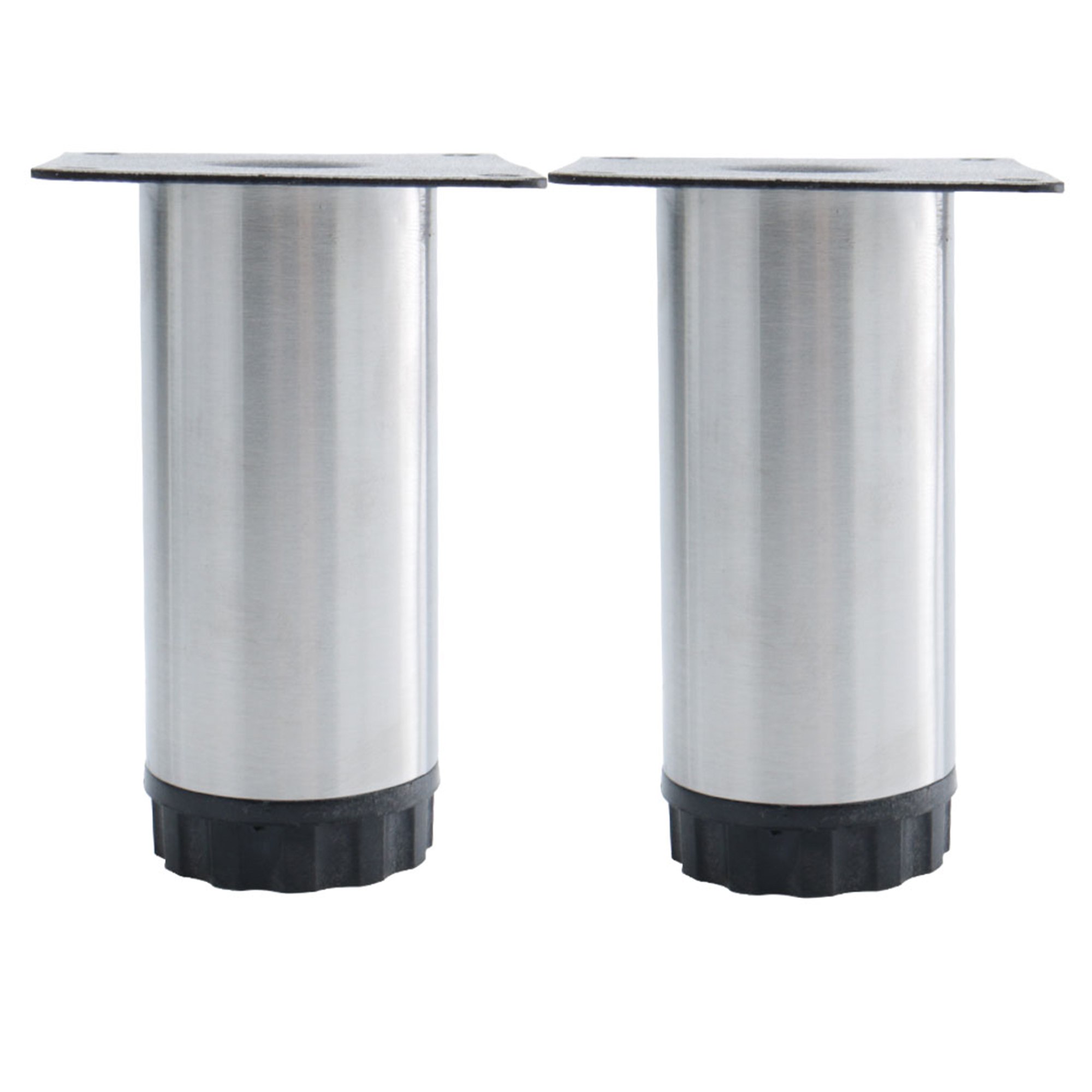 6 Inch Furniture Legs Stainless Steel Feet Sofa Table Cabinet Shelves Leg Replacement Adjule Height 2pcs