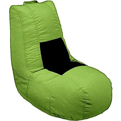 Ace Bayou Mesh Video Gaming Bean Bag with Lycra Sweet Spot, Made of More Than 50% Recycled Content, Color: Green/Black (1, Green/Black) By X Rocker