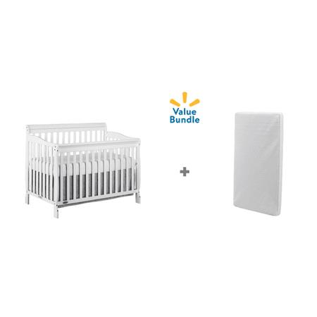 Dream On Me Ashton 5-in-1 Convertible Crib + Crib Mattress Value -