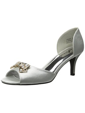 Annie Shoes Women's Late Night Pump, Silver, 8.5 M US