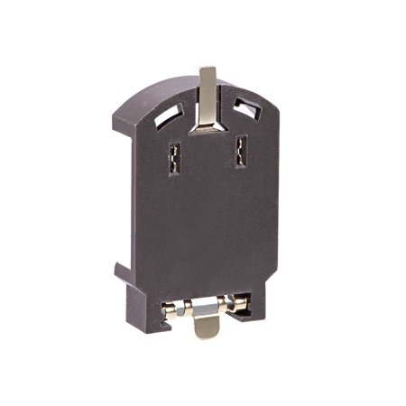 1pc CR/LIR2032 Pièce Support Batterie Bouton Horizontal Contenant Marron Bo te - image 1 de 4