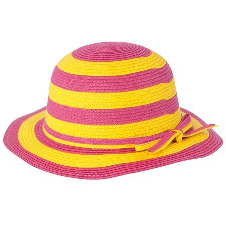 Little Girls Hat (Little Girls Brim Straw Floppy Hat )
