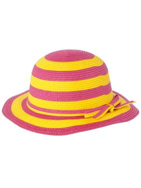 Little Girls Brim Straw Floppy Hat