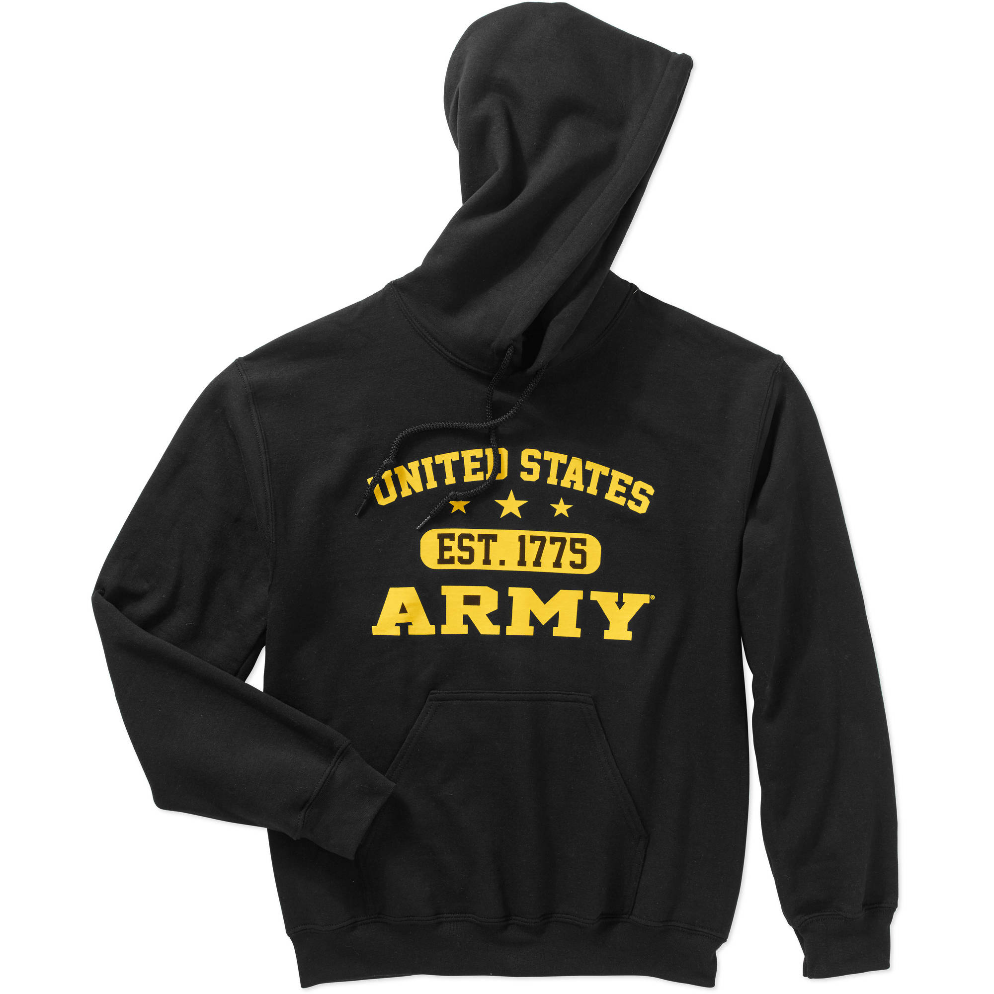 Big Men's Military Officially Licensed Fleece Traditional Hoodie, 2XL