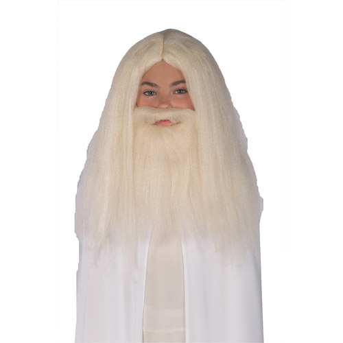 Gandalf Wig And Beard Set Child Halloween Accessory