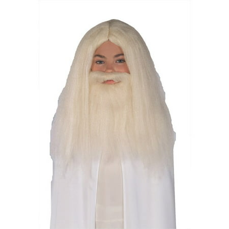 Gandalf Wig And Beard Set Child Halloween Accessory (Guy With Beard Halloween Costumes)