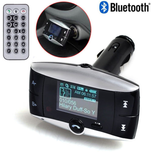 Wireless Bluetooth Car Kit MP3 Player FM Transmitter Modulator USB SD LCD Remote