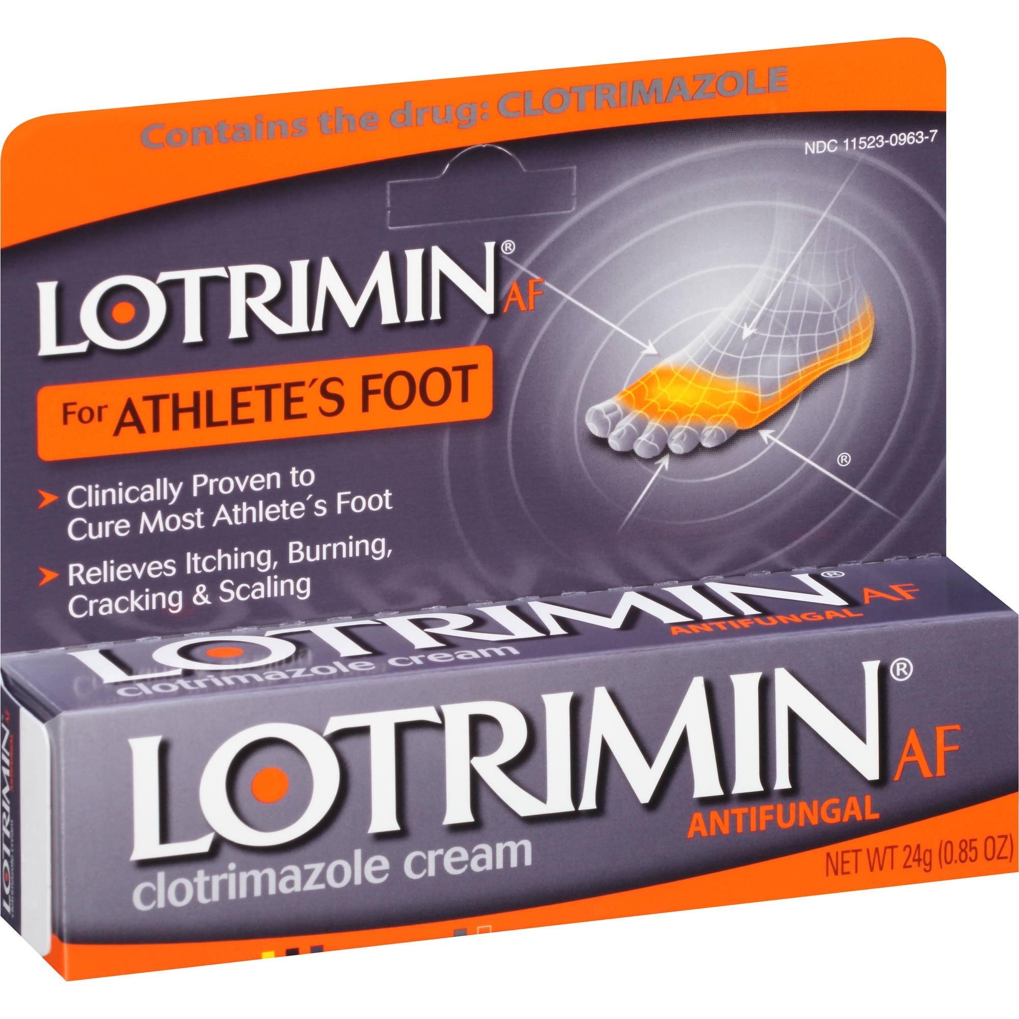 Lotrimin AF for Athlete's Foot Antifungal 1% Clotrimazole Cream, 0.85 oz