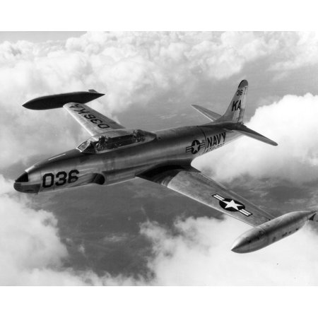 LAMINATED POSTER A U.S. Navy Lockheed TV-2 Shooting Star trainer of Advanced Training Unit ATU-200 in flight in 1953. Poster Print 24 x 36 ()