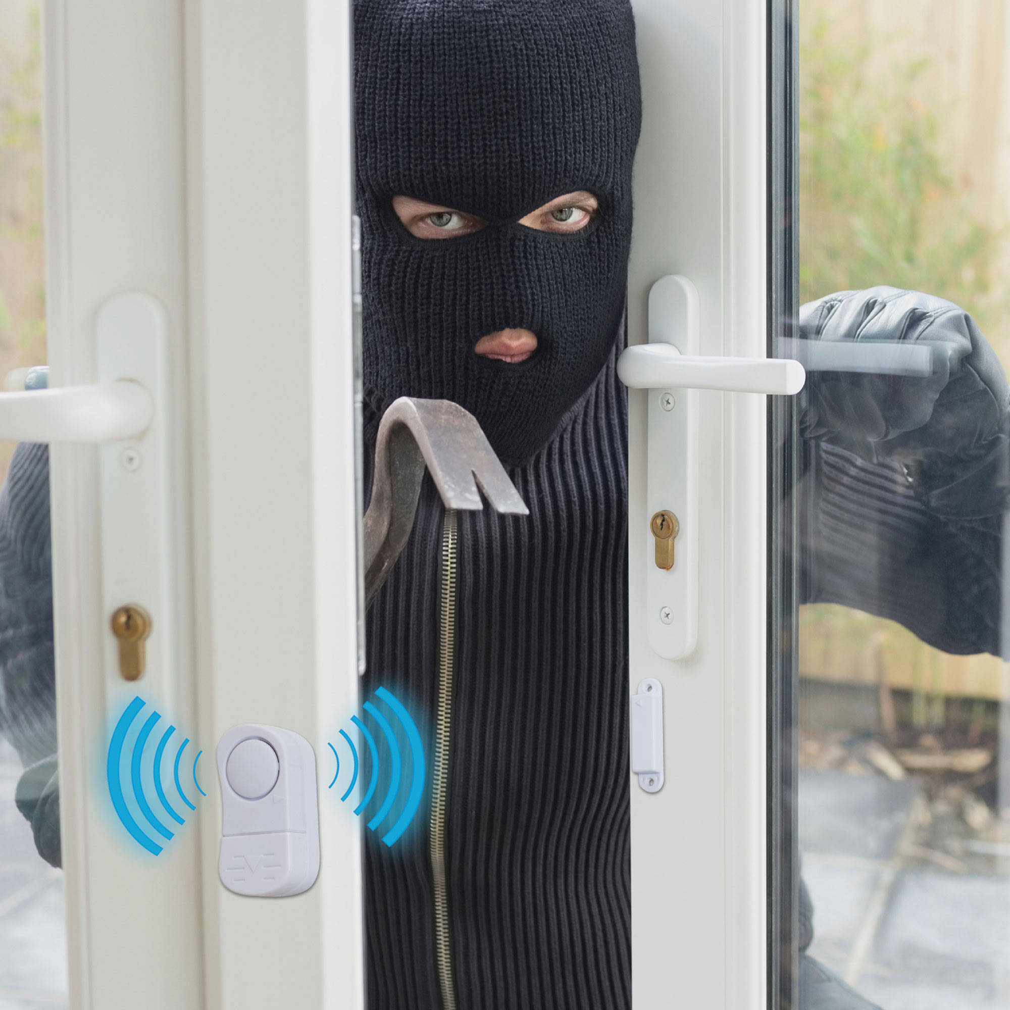 Stalwart 8-Piece Wireless Mini Window Security System Alarm Set