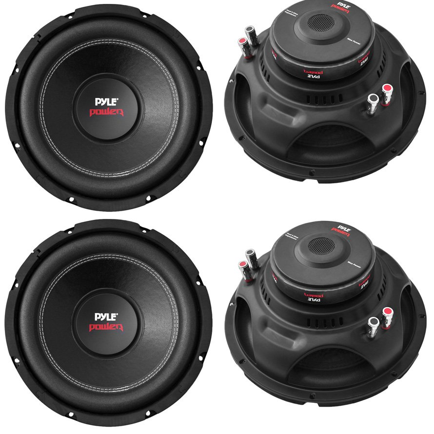 "4) Pyle PLPW10D 10"" 4000W Car Subwoofer Audio Power Subs Woofers DVC 4 Ohm Black"