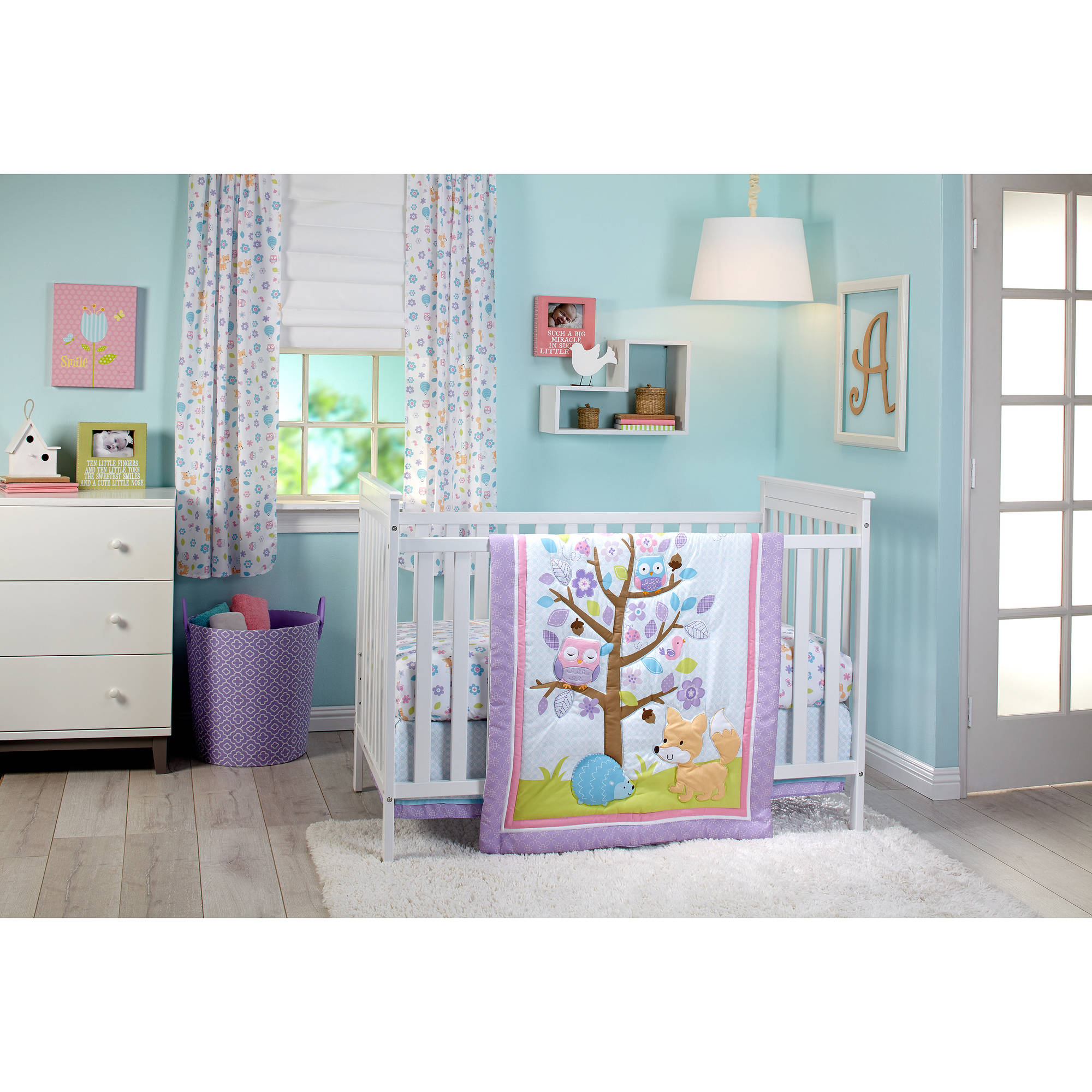 Little Love Adorable Orchard 3-Piece Crib Bedding Set