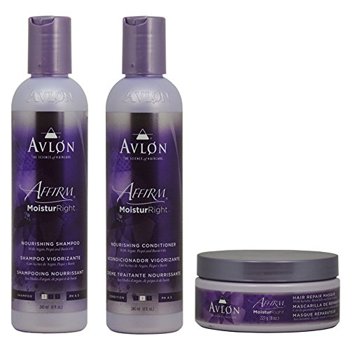 "Avlon Affirm Moistur right Nourishing Shampoo + Conditioner + Hair Repair Masque 8oz ""Set"""