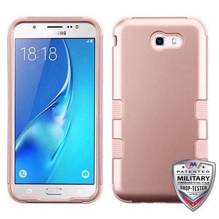 Samsung Galaxy J7 Prime, J7 V, J7 Perx, J7 Sky Pro, Halo Case - Wydan Tuff Hybrid Shockproof Case Protective Heavy Duty Phone Cover - Rose Gold on Rose Gold