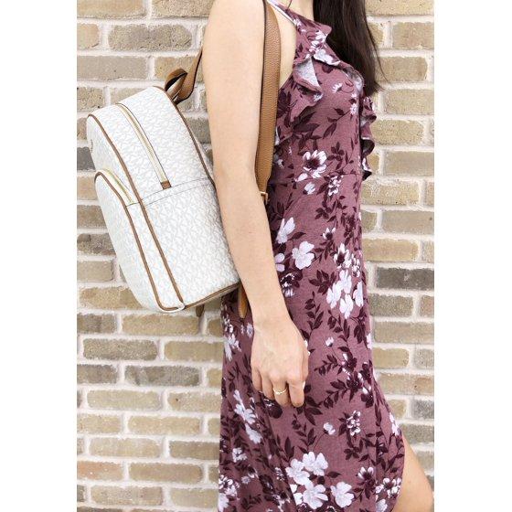 98185133e46cc4 Michael Kors - Michael Kors Abbey Large Backpack Vanilla MK ...