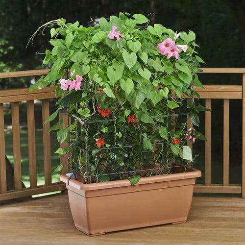 Marchioro Self Watering Planter Box With Trellis Walmart Com