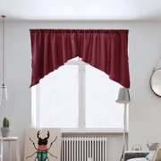 1PC SOLID TRIANGLE KITCHEN CAFE CURTAIN PANEL SHORT CURTAINS/SWAGS HALF DRAPES FOR BATHROOM BEDROOM KITCHEN