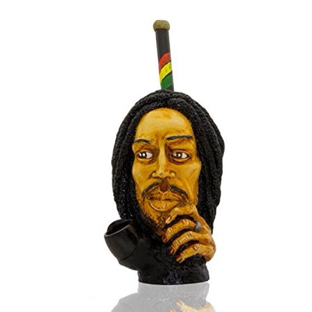 Handmade Tobacco Pipe Horror movies (Rasta man w/. Ring)