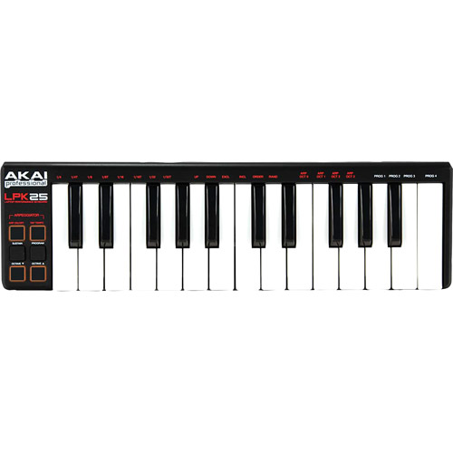 Akai Professional LPK25 | 25-Key Ultra-Portable USB MIDI Keyboard Controller