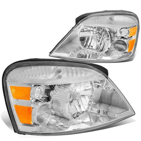 For 2004 to 2007 Ford Freestar / Mercury Monterey Headlight Chrome Housing Amber Corner Headlamp 05 06 Left+Right