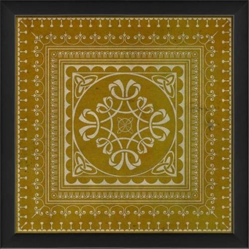 The Artwork Factory 19362 Tile 3 Ready to Hang Artwork, Yellow