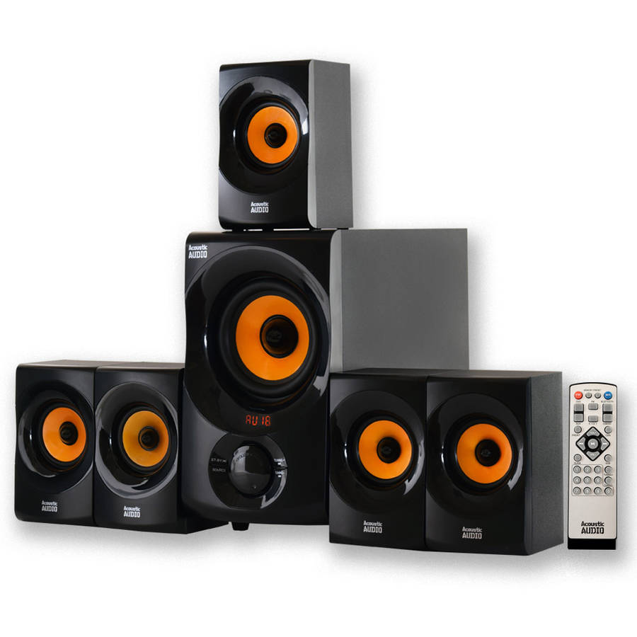 Acoustic Audio AA5170 Home Theater 5.1 Bluetooth Speaker System with Powered Sub