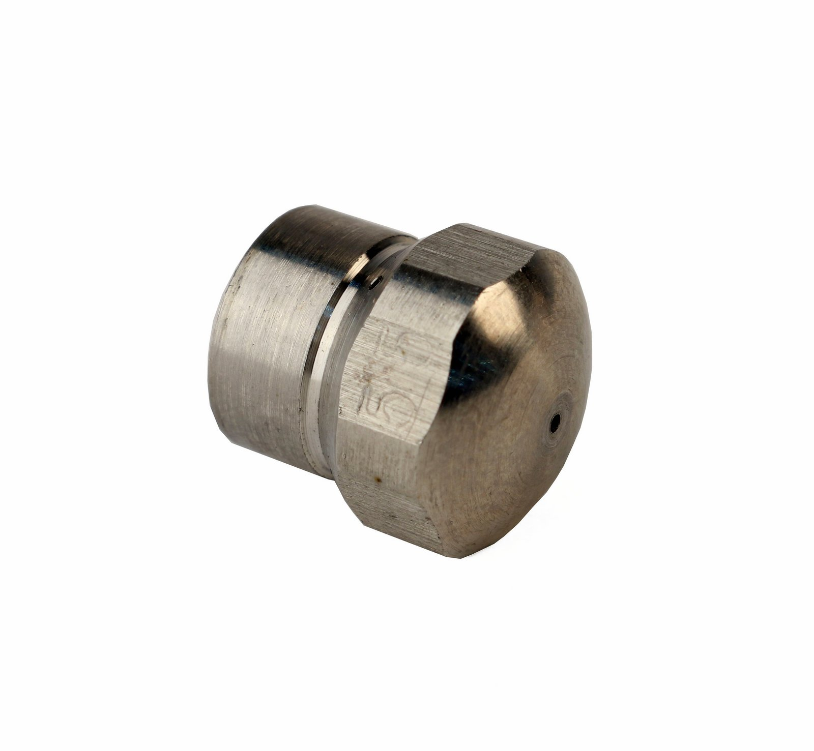 4000 PSI 1//4 Inch Tool Daily Stainless Steel Fixed Sewer Jet Nozzle Button Nose 1//4 Female 5.5 Orifice 1//4